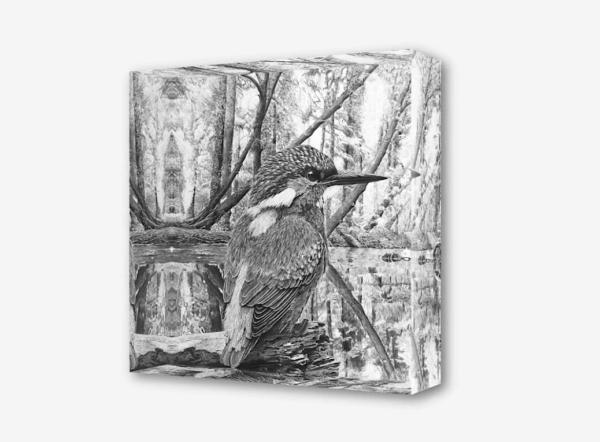 Acrylblock Eisvogel