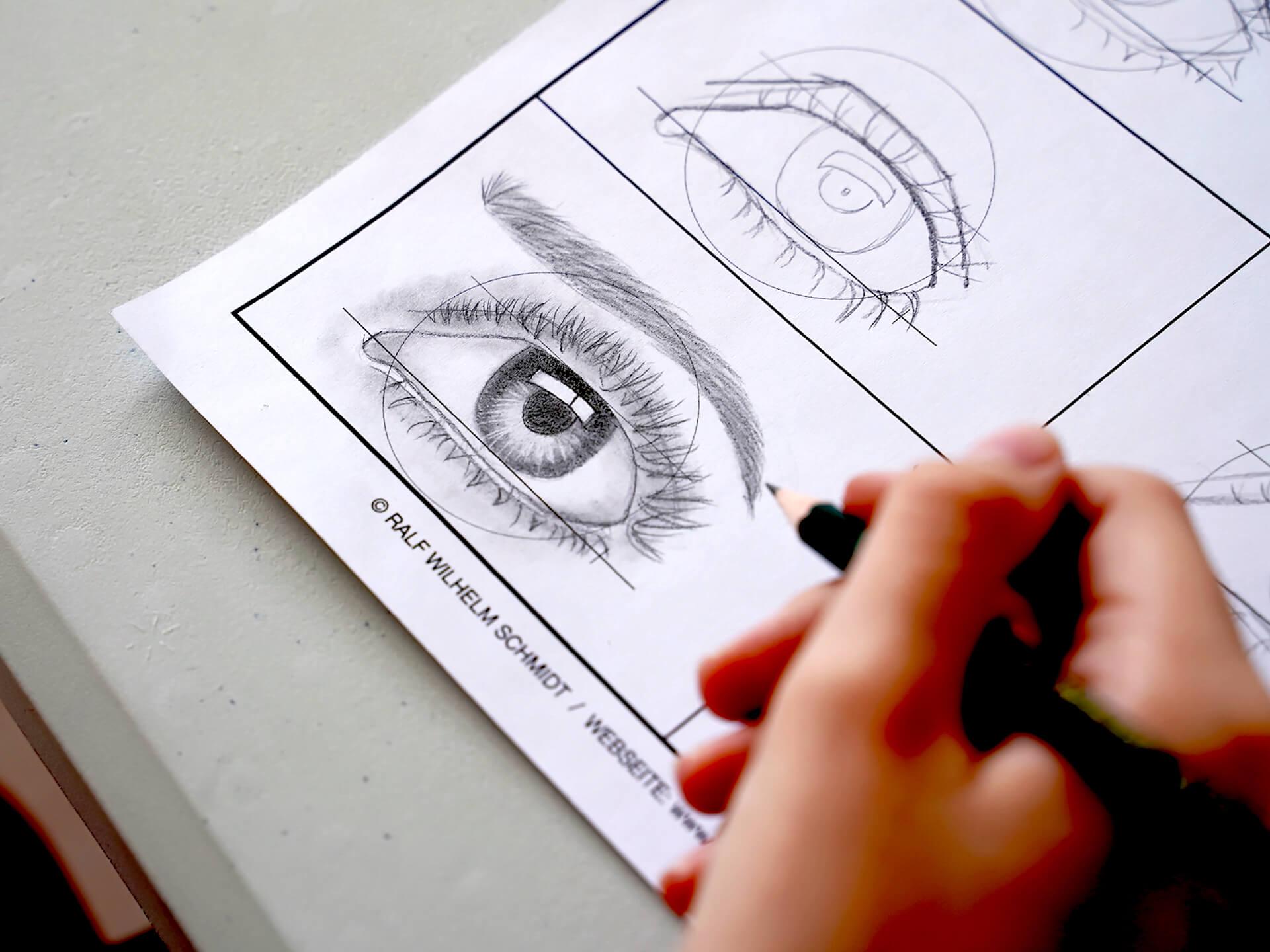 Auge Zeichnen Workshop ERGEBNISSE