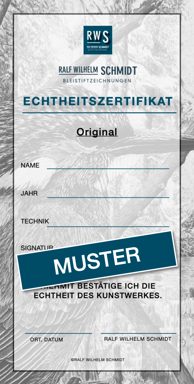 Zertifikat Originale von Ralf Wilhelm Schmidt