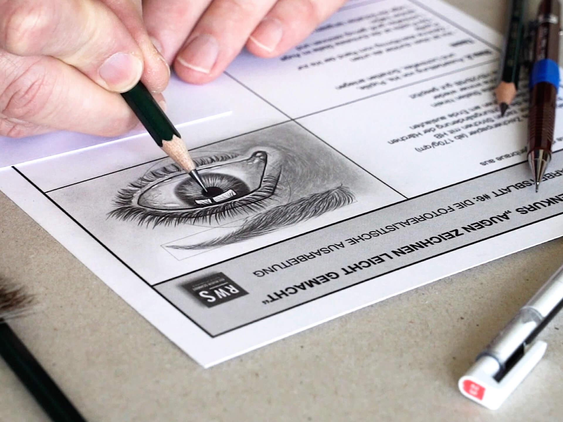 Der Online Zeichenkurs Augen zeichnen leicht gemacht