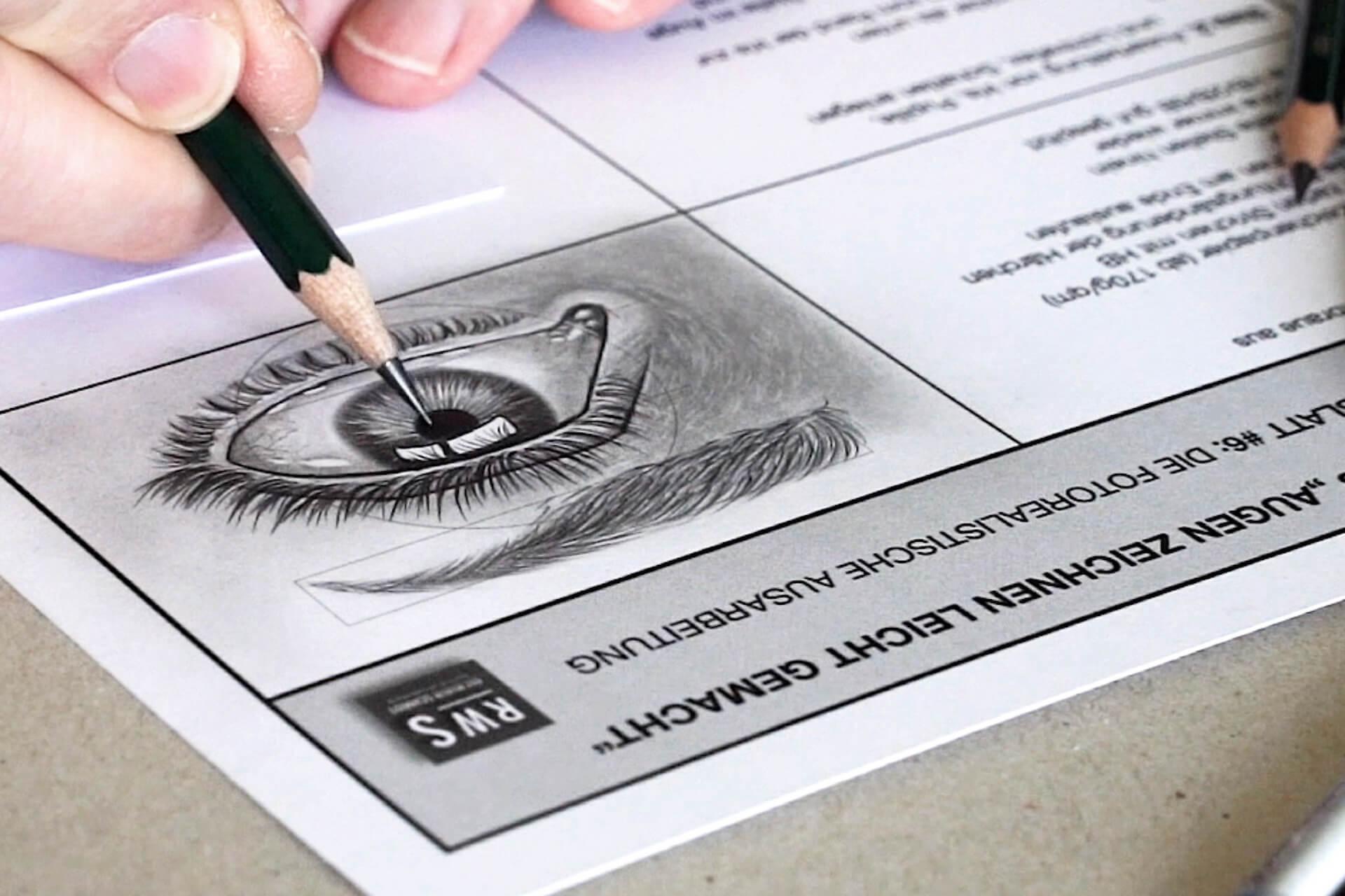 Augen zeichnen lernen-der Zeichenkurs