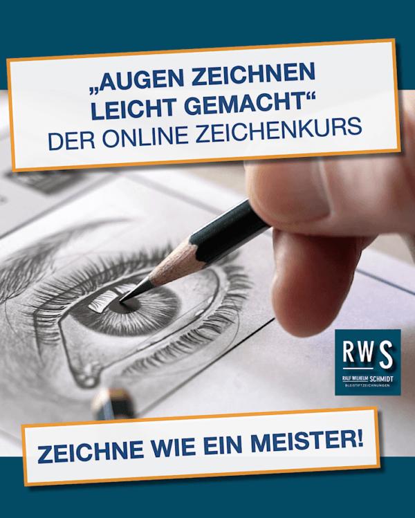 Zeichgenkurs-Augen zeichnen