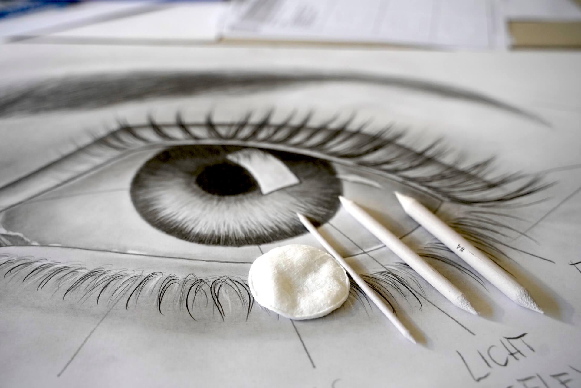 Bleistiftzeichnung Eule