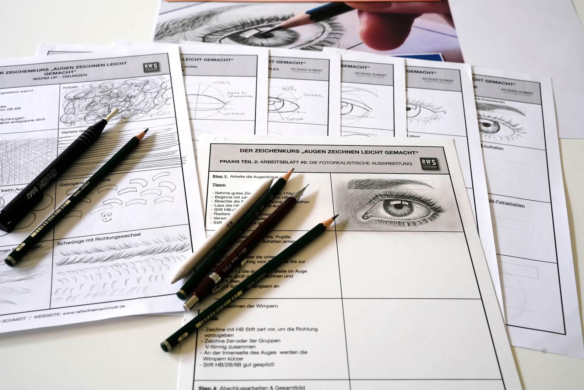 Bartkauz Bleistiftzeichnung