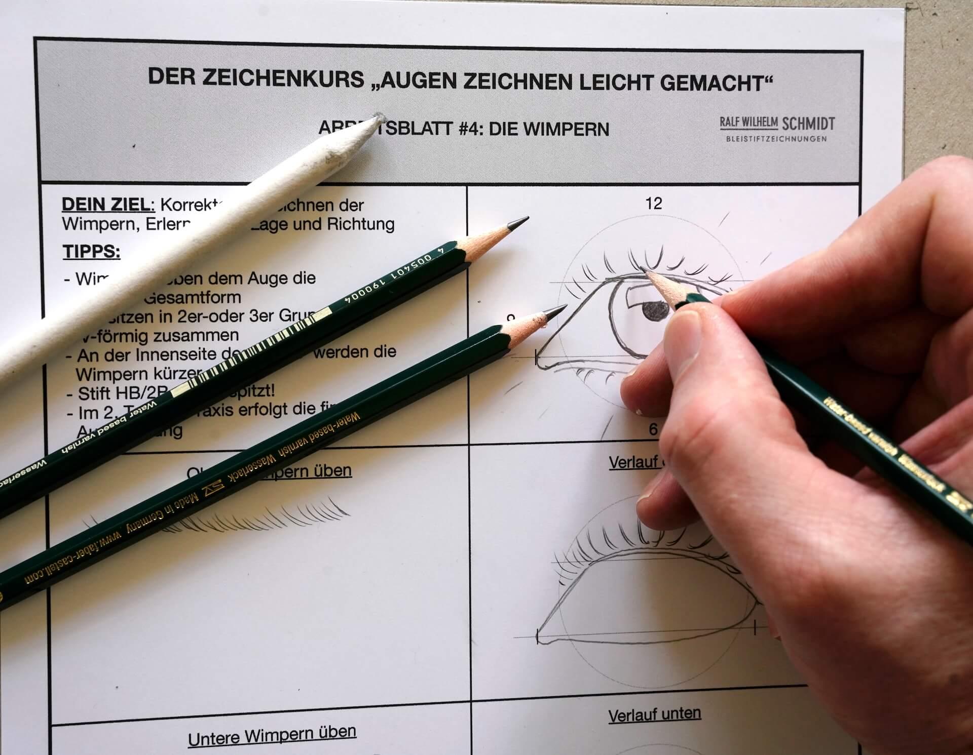 Augen zeichnen lernen-der Gratis  Zeichenkurs-Ralf Wilhelm Schmidt