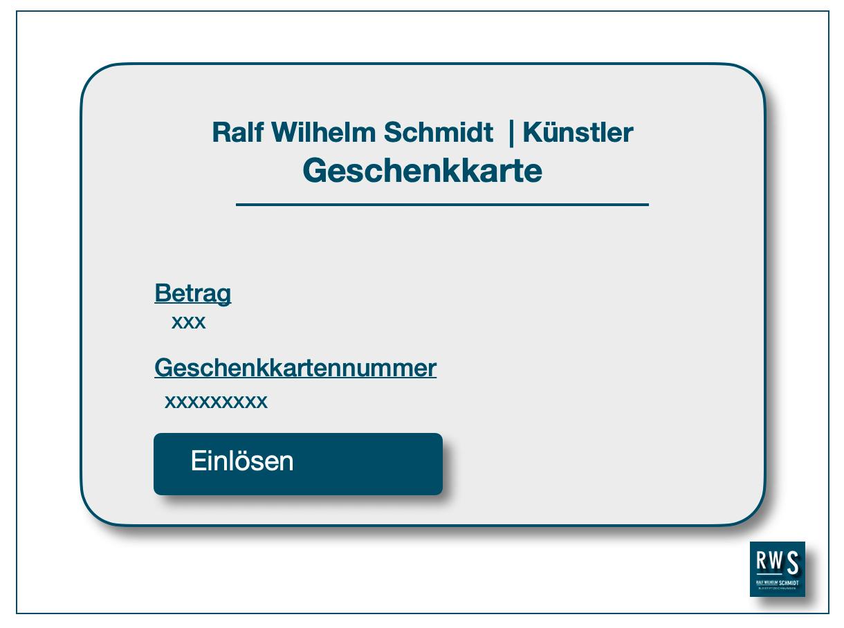 Geschenkkarte von Ralf Wilhelm Schmidt