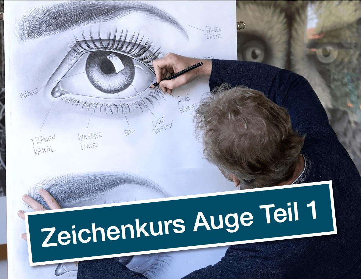 Augen zeichnen lernen-der  Zeichenkurs von Ralf Wilhelm Schmidt